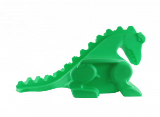 KINDER BALLRAMPE DRACHE NEON-GRÜN (GLOW IN THE DARK)