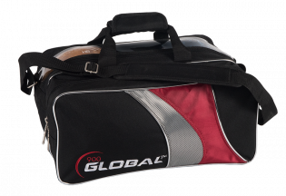 900 GLOBAL 2-BALL TRAVEL TOTE BLACK/RED/SILVER