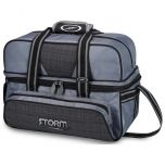STORM 2-BALL TOTE DELUXE PLAID/GREY/BLACK